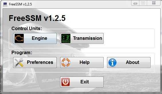 Диагностика Subaru с помощью FreeSSM